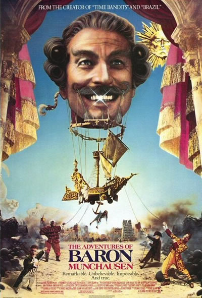 Poster for The Adventures of Baron Munchausen